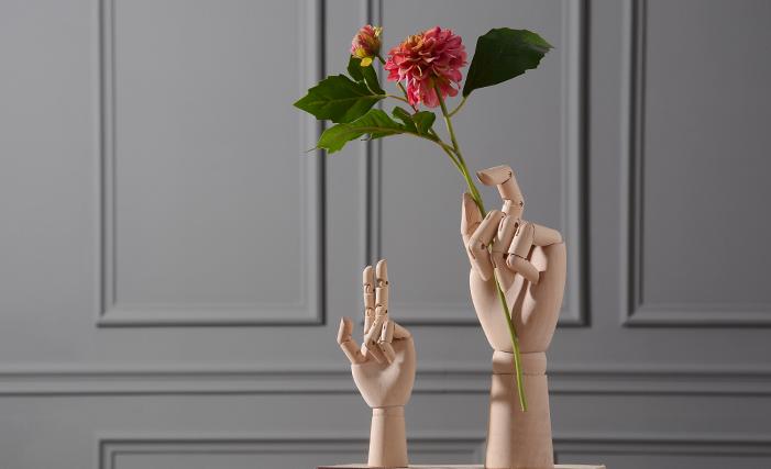 美式北欧现代简约 创意书柜家居装饰品 样板间软装 人偶手形摆件-淘宝网