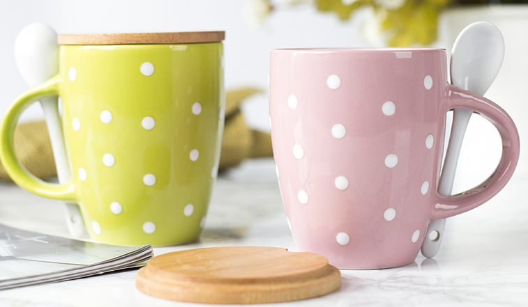 jarsun家尚 创意陶瓷杯子带盖勺 简约水杯咖啡杯马克杯牛奶杯茶杯-tmall.com天猫