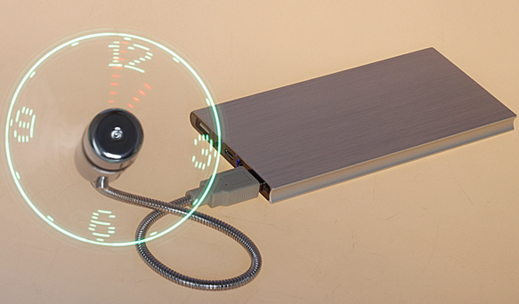 antao品牌原装USB时钟小风扇移动电源创意时间风扇学生便携办公室-淘宝网