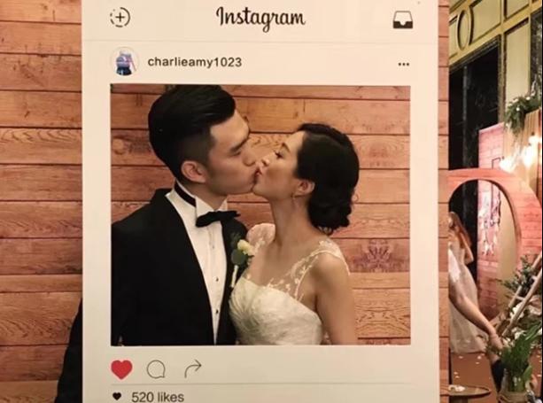 可定制instagram相框拍照道具 创意手持婚礼生日拍照广告镂空相框-淘宝网